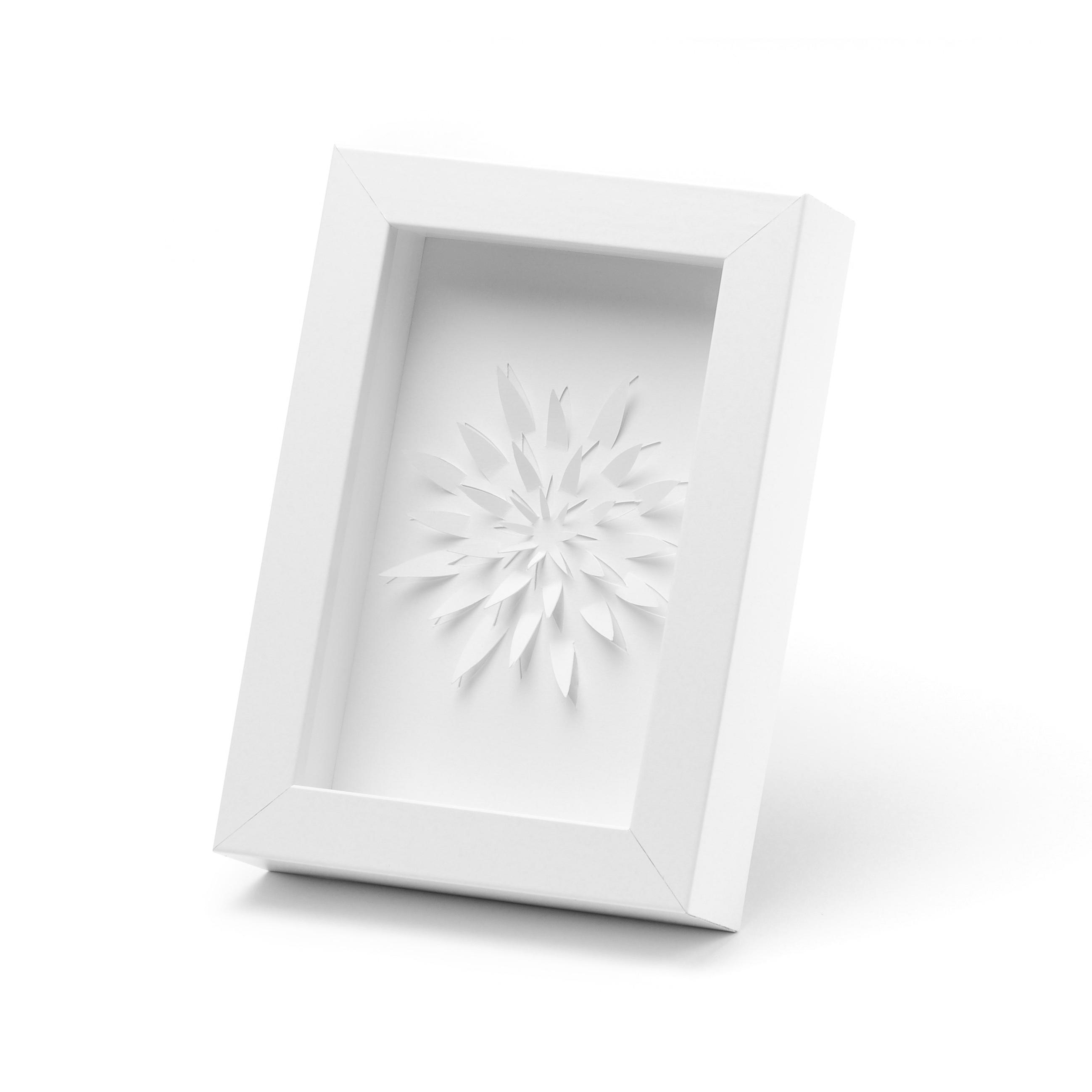 flor con marco