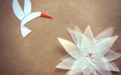 La flor y el colibrí